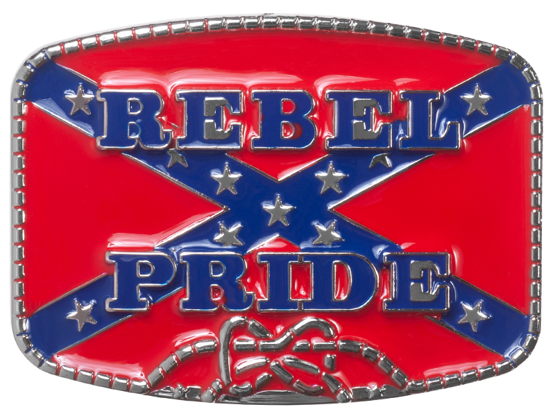 Belt Buckle - Rebel Pride Flag and Rope