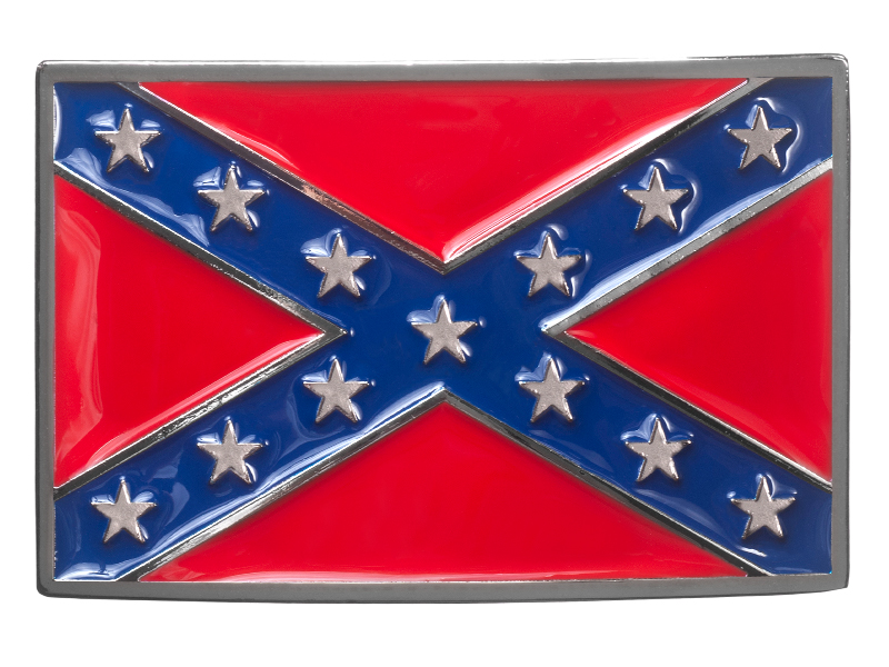 Belt Buckle - Confederate Flag