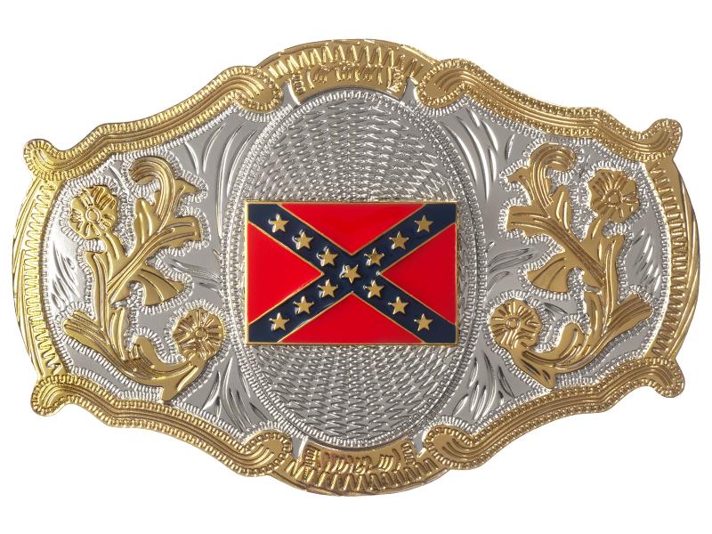 Belt Buckle - Oversize - Rebel Flag