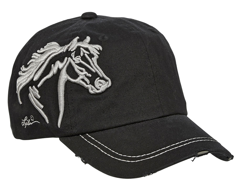 Vintage Cap - Horsehead - - adjustable - Black