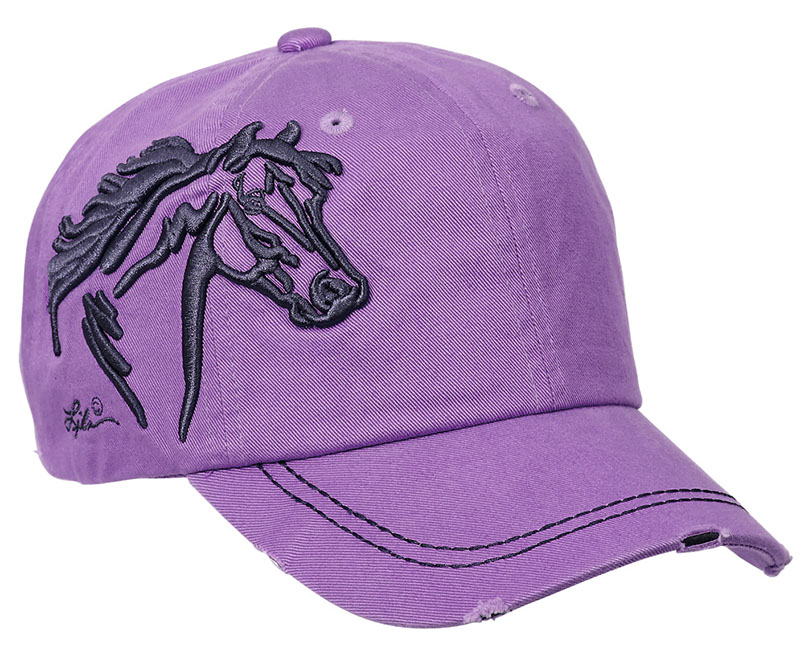 New Vintage Cap - Horsehead - - adjustable - Lavender wo