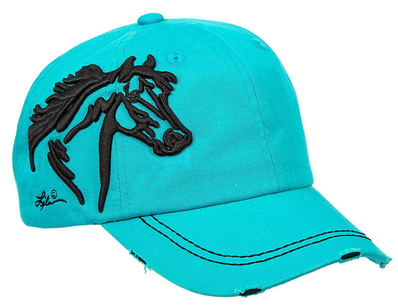 Special - Vintage Cap - Horsehead - - adjustable - Turquoise