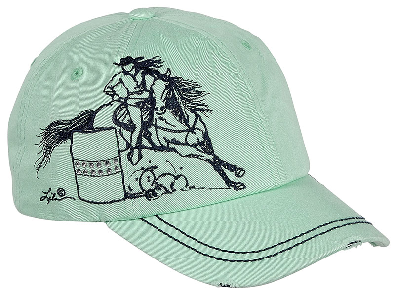 Vintage Cap - Barrel Racer- Rhinestuds- - adjustable - Mint