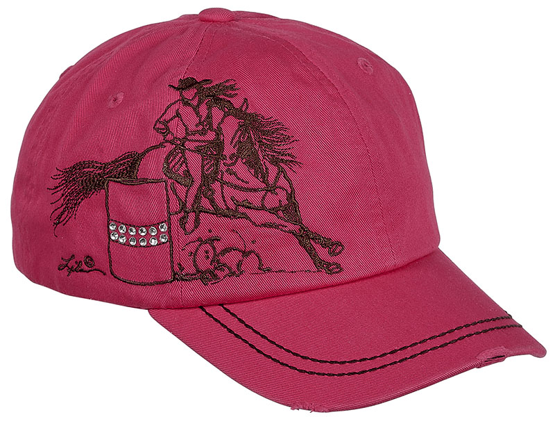 Vintage Cap - Barrel Racer- Rhinestuds- - adjustable - Pink