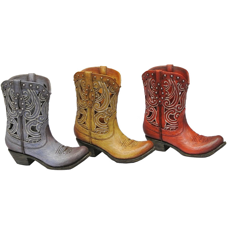 Toothpick Holder - Scrolled Boots - Assorted Colors