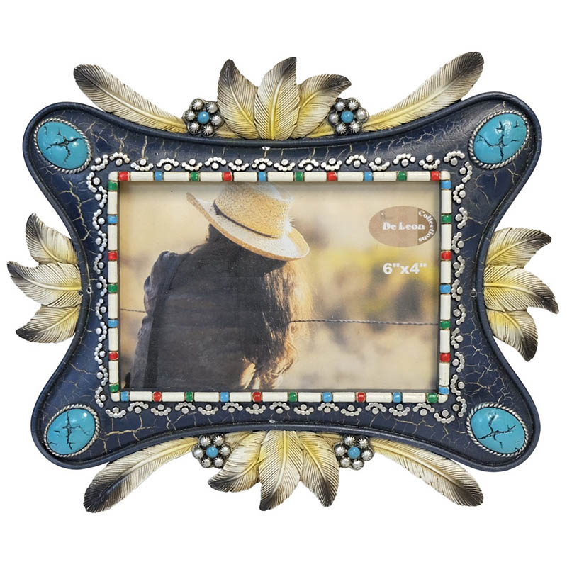 Picture Frame - Feathers & Conchos - 6 x 4