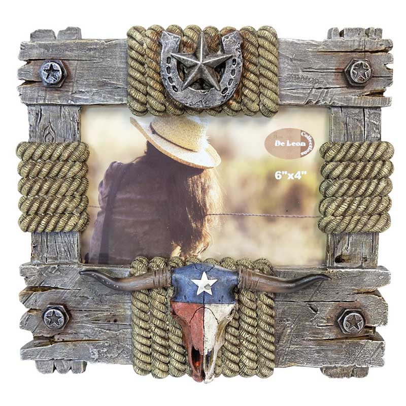 Picture Frame - Texas Skull - 6 x 4