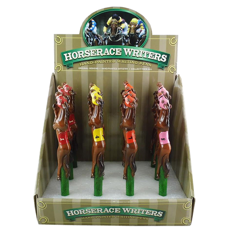 Race Horse Pens, Resin Display, 12 assorted *WILL BE DISCONTINUED