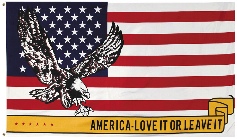 USA Flag  America Love it or Leave it 3' x 5'