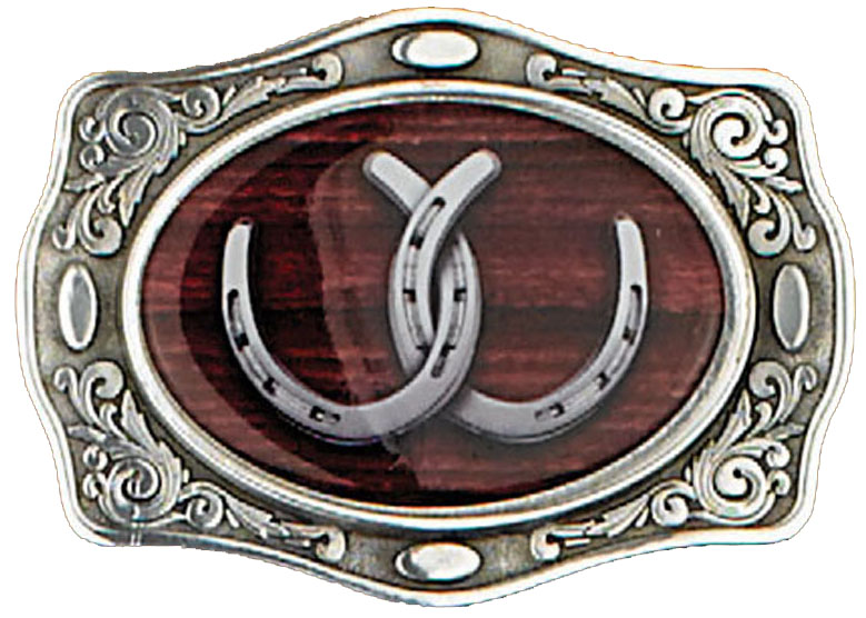 Horseshoe Belt Buckle 3-3/4 x 2-1/2