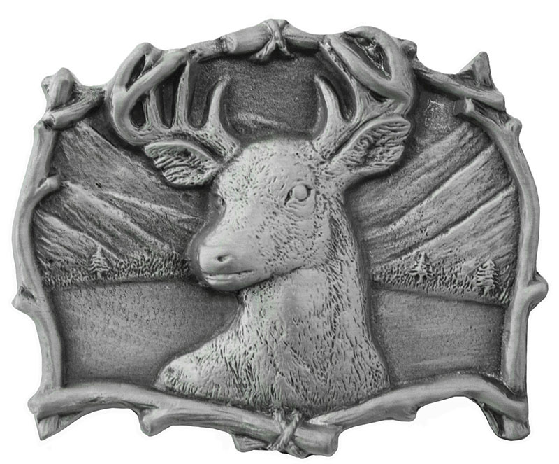 Deer Head Belt Buckle 3 x 2-1/2