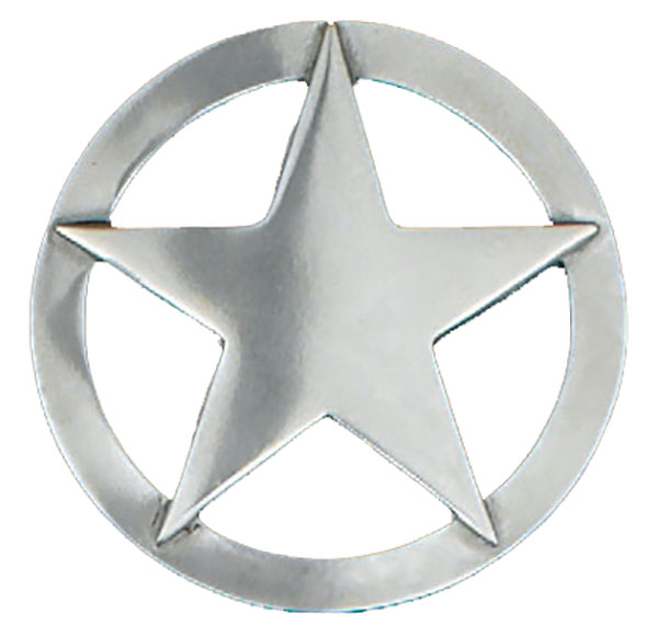 Large Silver Star Belt Buckle 3-3/8 x 3-3/8