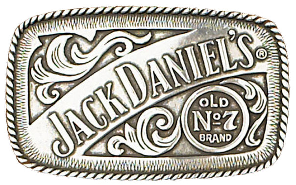 Jack Daniels Old No 7 Belt Buckle 4-1/4 x 2-1/2
