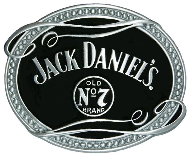 "Special - JD Belt Buckle  3-3/4"" x 3"" Oval d"