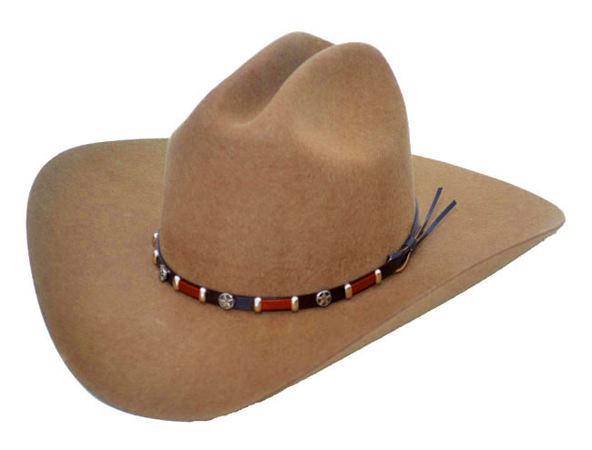 BROWN Wool Felt Hat - Concho Band  - Sized Hats
