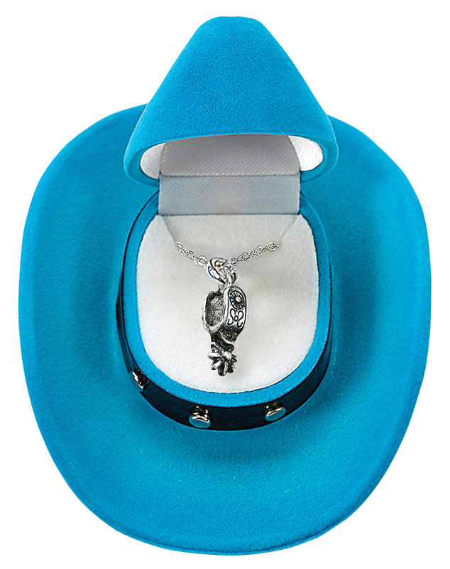 Western Spur Necklace -  Cowboy Hat Gift Box