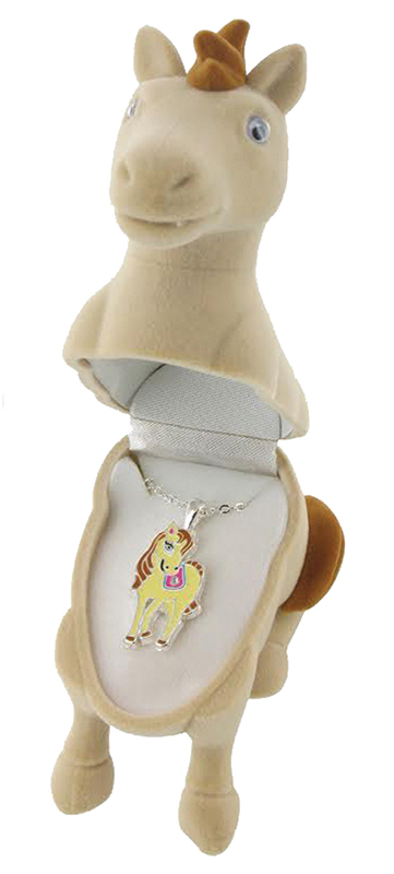 Special Beige Pony Necklace - Beige Pony Gift Box  d
