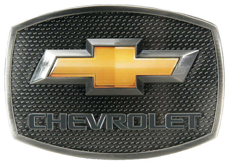 Chevy Gold Bow Tie Buckle - 3-1/2 x 2-1/2