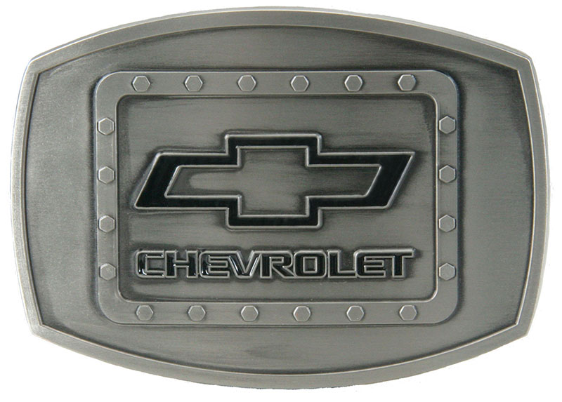 Chevy Riveted Buckle - 3-1/2 x 2-1/2