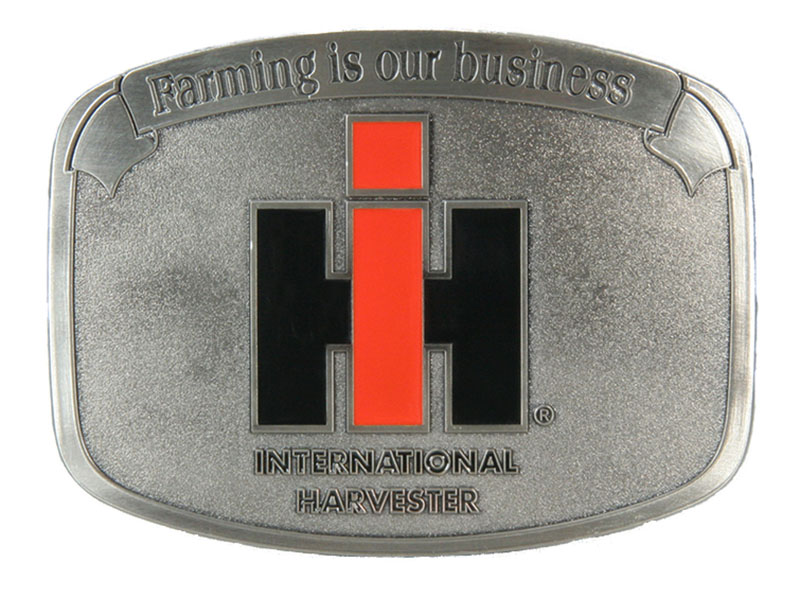 "Farming is our Business IH Buckle 3-1/8"" x 2-3/8"""