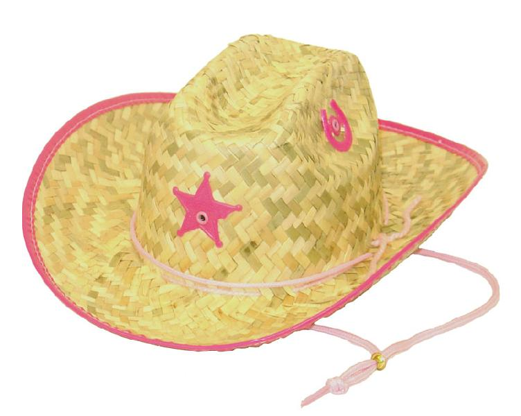 Palm Straw Hat/Sherrif/PINK