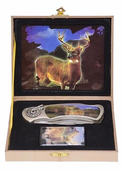 Deer Knife & Lighter, Gift Boxed - available August - (temp removed from site)