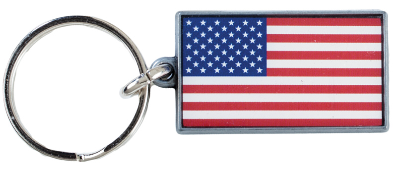 U.S.A. Key Ring, Made in the USA