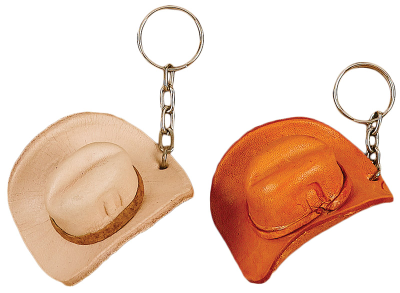 Leather Hat Key Ring