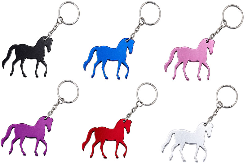 Prancing Horse Key Chain - assorted colors -