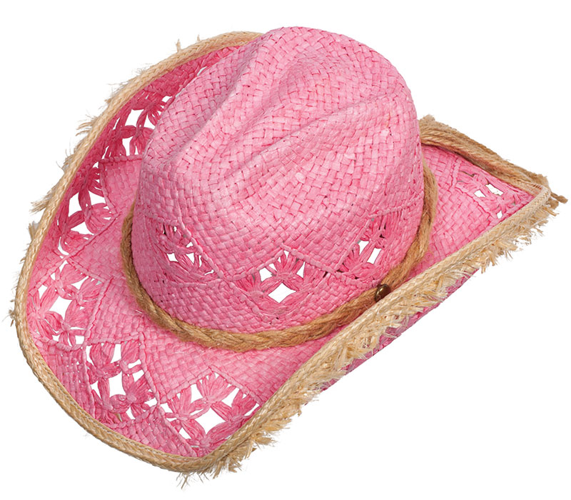 25% Off Pink Straw Hat, Memphis