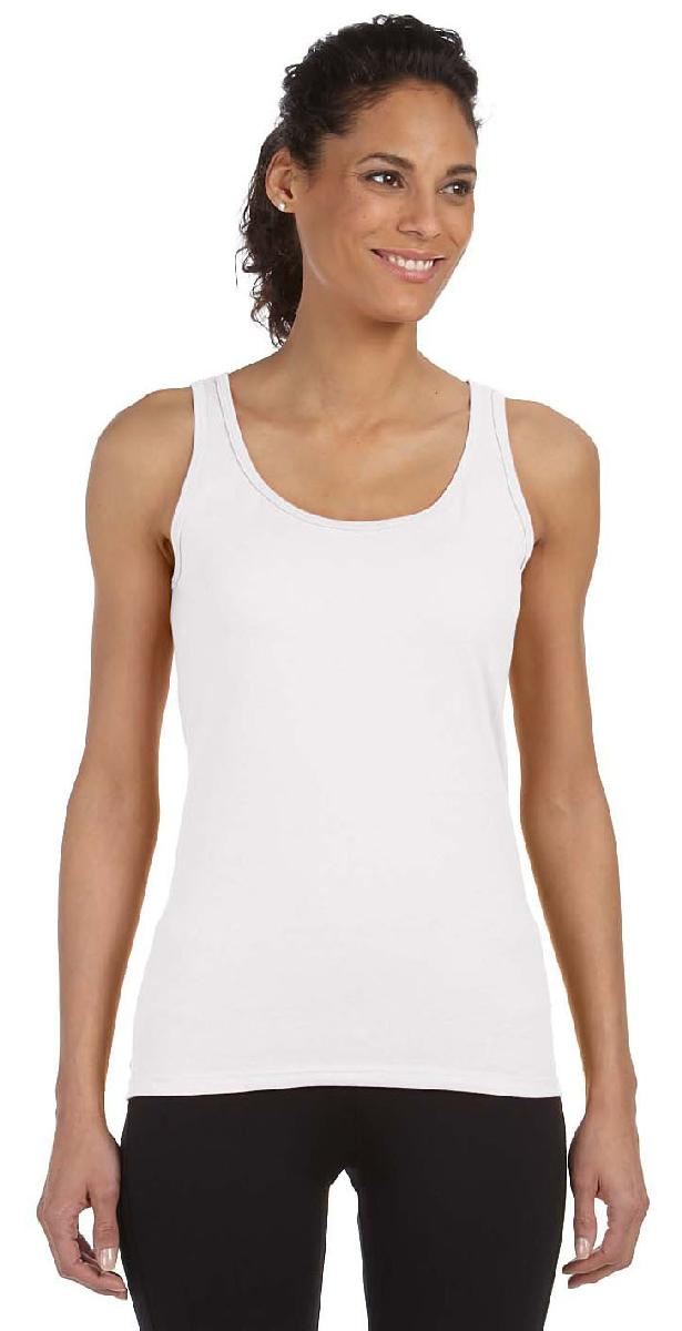 63% OFF - Closeout Ladies Tank Top, White, BLANK