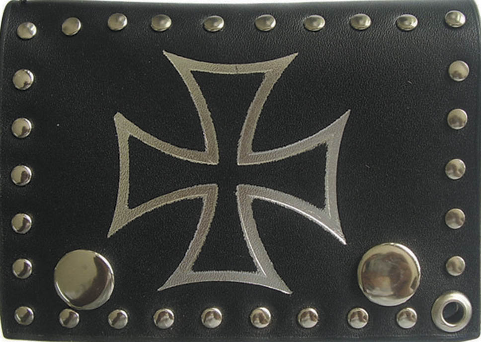 Celtic Cross Wallet - Tri Fold w/chain