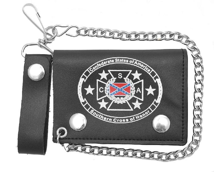 Trifold Chain wallet - Southern Cross 4 1/2""