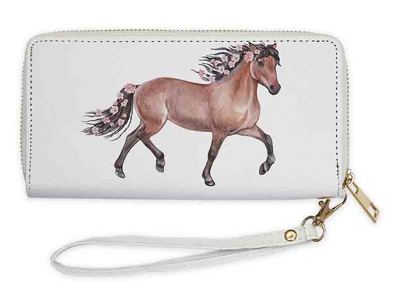 Wristlet - Bay Horse with Flowers