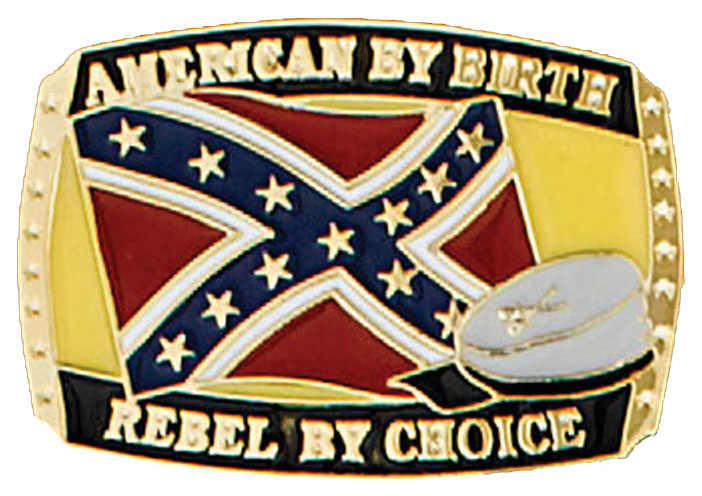 American Rebel by Choice Belt Buckle 3x2 Made in USA