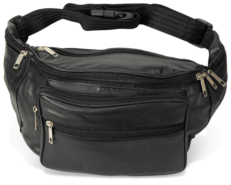 Jumbo Leather Fanny Pack  8 in x 18.5 in