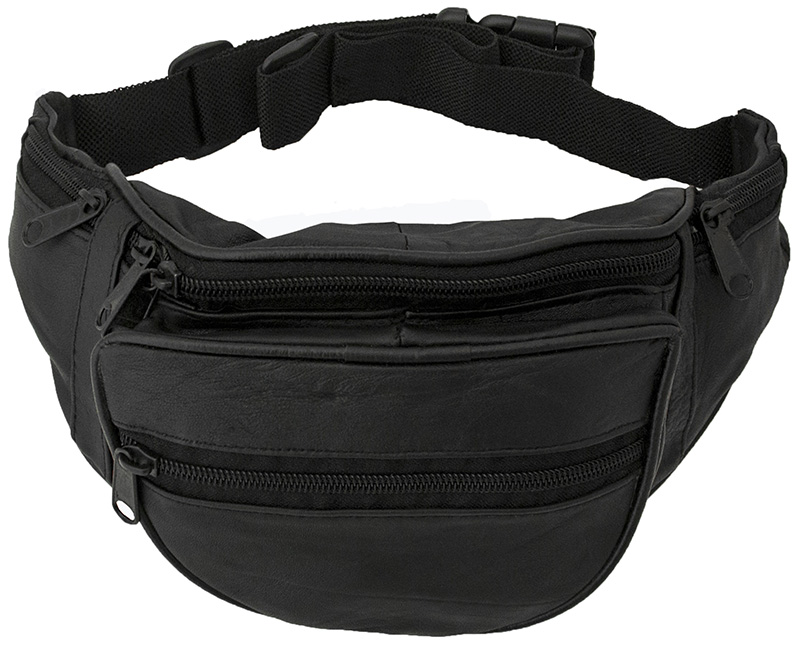 "20% OFF -  Leather Fanny Pack  7-1/2"" x 6""  wo"