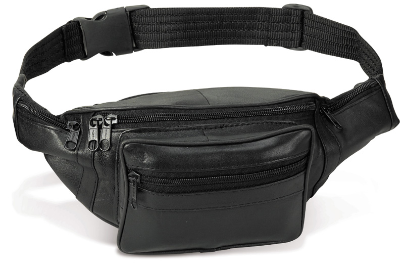Leather Fanny Pack 5-1/4 x 15
