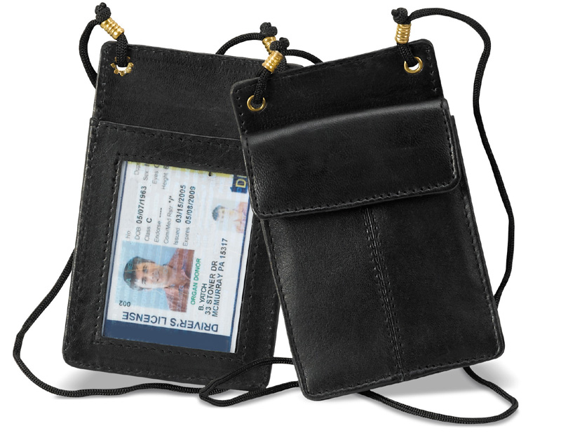 Special - Leather ID Purse with string d