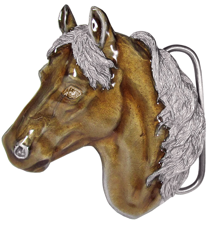 25% Off Special  - Horsehead Belt Buckle  2-3/4 x 3 Made in USA wo
