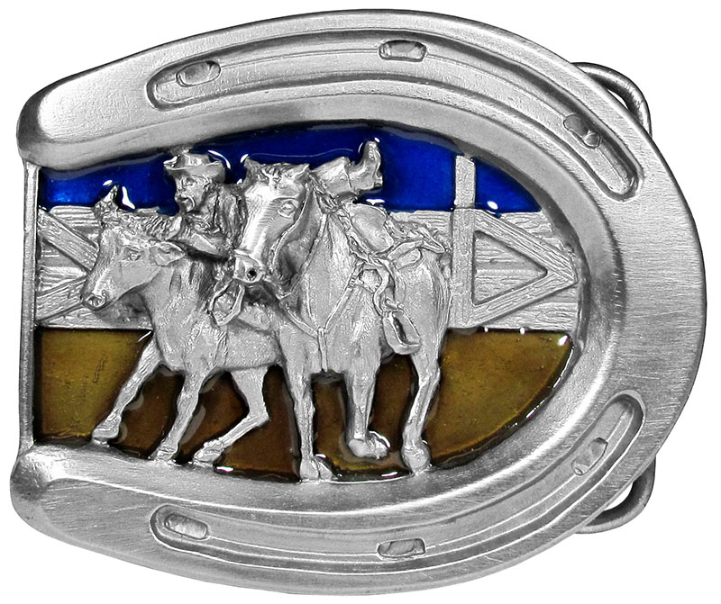 New - Horseshoe Belt Buckle  3 x 2-1/2 Made in USA wo