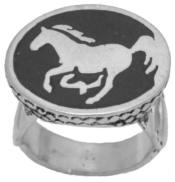 60% OFF - Black Horse Ring Made in  the USA