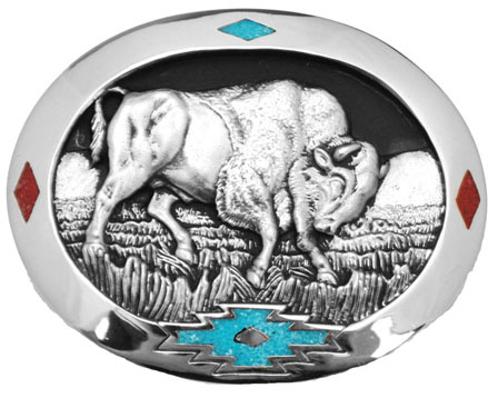 Bull Belt Buckle 3 x 2-1/2 Made in USA