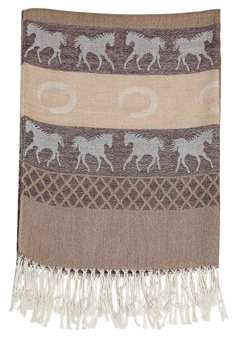 New - Brown Equestrian Scarf
