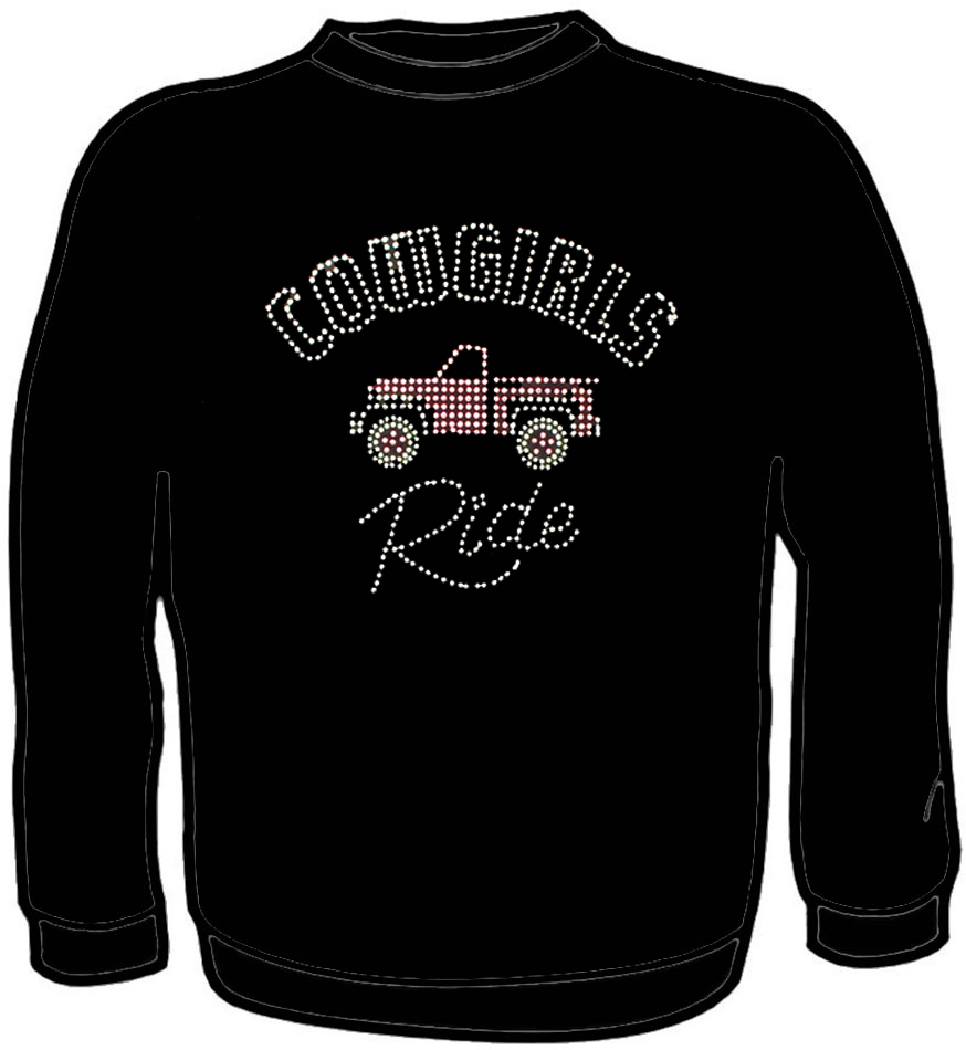 Cowgirls Ride Rhinestud Sweatshirt