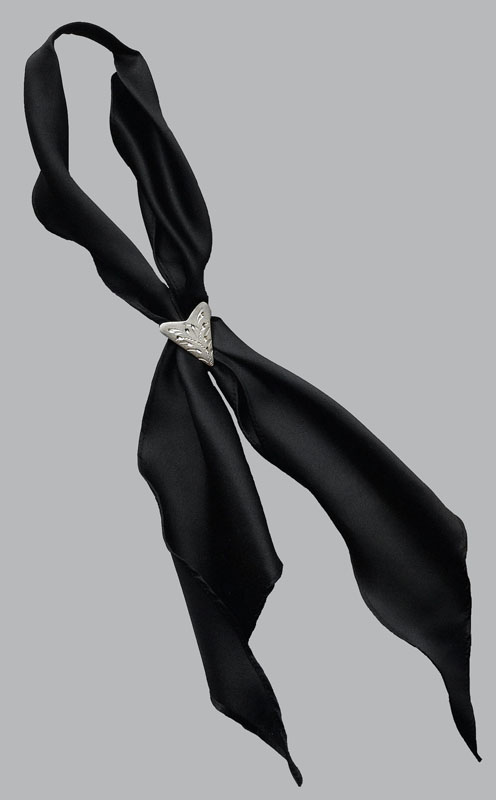 Scarf Tie , Made in the USA,     *BLACK