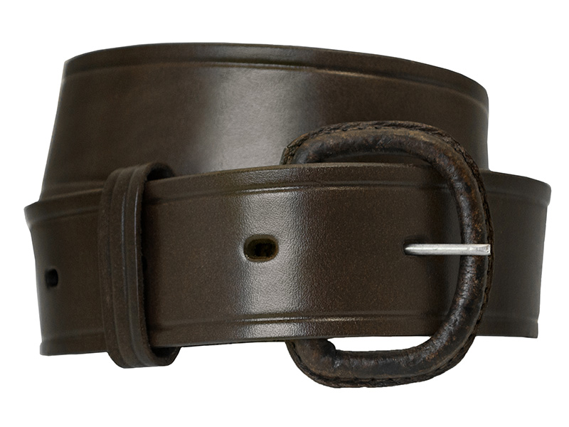 "Brown Leather Belt, 1-1/2"" wide."