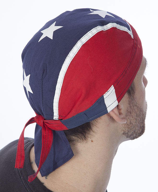 Rebel Flag Head Wrap 100% Cotton