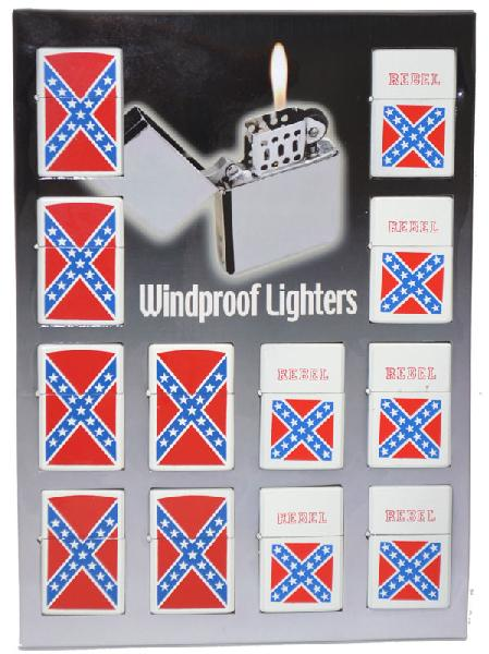 Rebel Lighter Assortment 12 per display